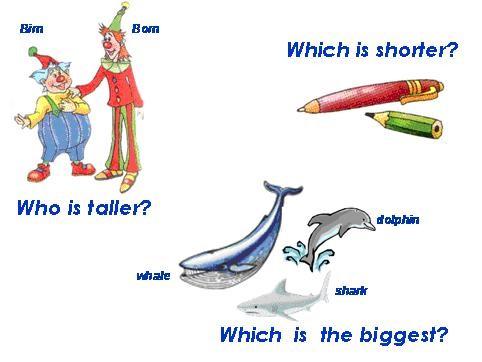 Образование степеней сравнения