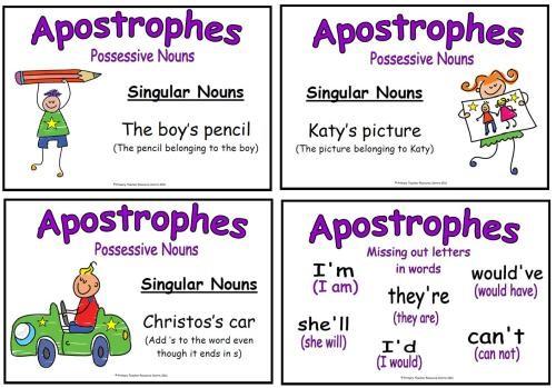 Примеры употребления апострофа
