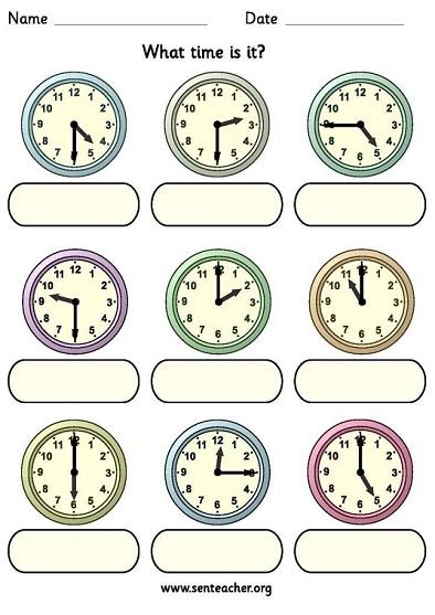 Время по-английски (упражнение)