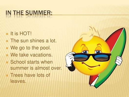 Лето в английском языке