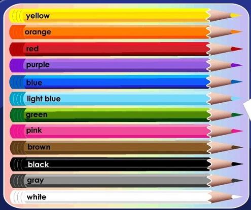 Карандаши разных цветов