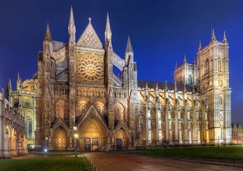 Westminster Abbey вечером