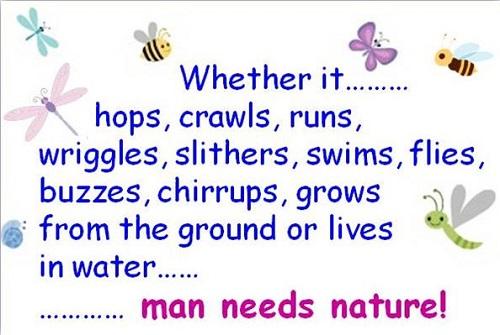 Человек нуждается в природе