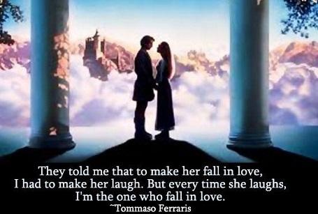 """Пример употребления выражения """"to fall in love"""""""