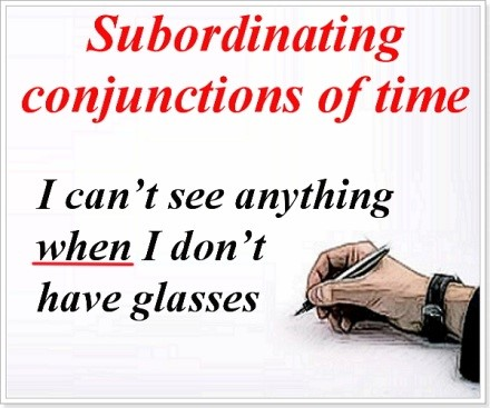 Subordinating conjunctions of time