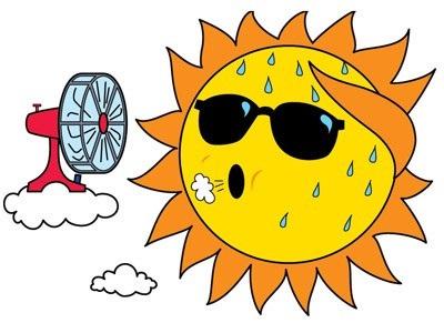 Жара и солнце