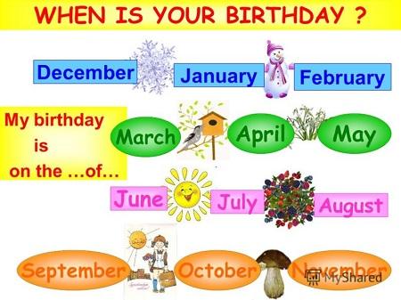 Когда у тебя День рождения?