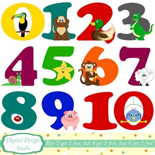 Цифры на английском для детей (упражнение)