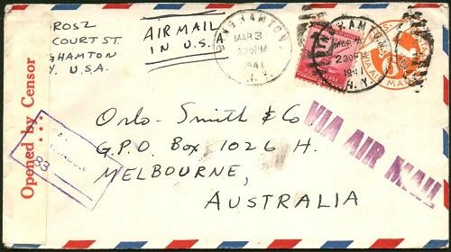 Правильно заполненный адрес на конверте (Австралия)