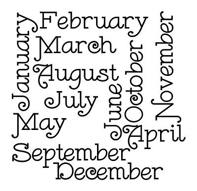 12 месяцев на английском