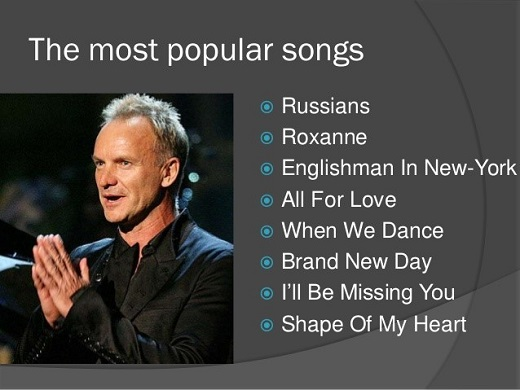 Best Sting Songs