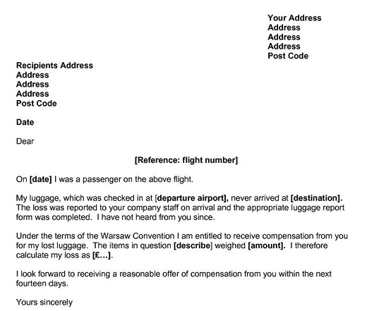 Письмо-жалоба от пассажира