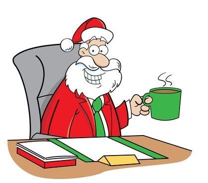 Санта в офисе