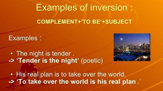 Инверсия в английском