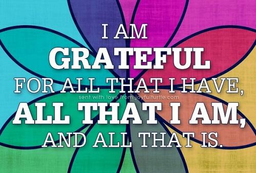 I am grateful...