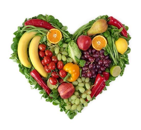 Сердце из фруктов