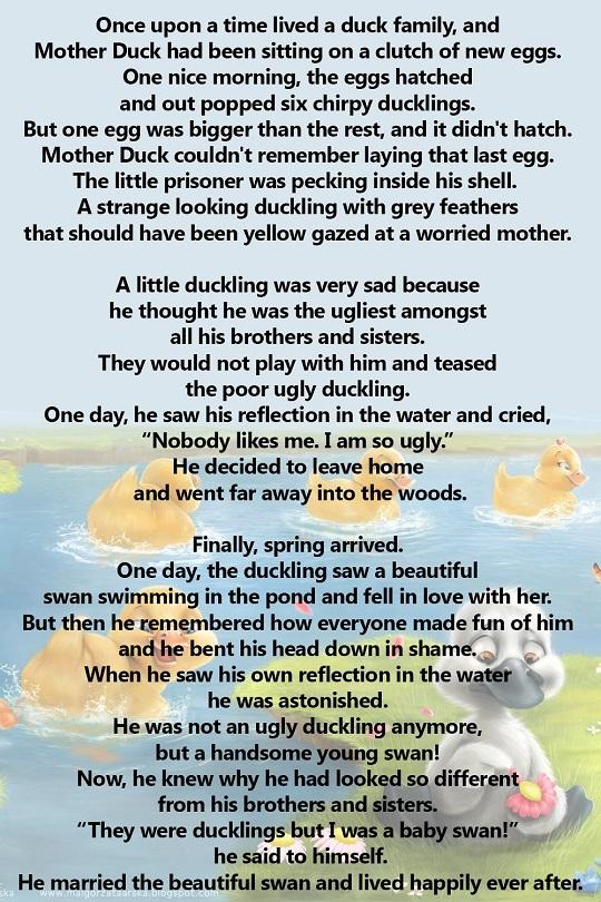 Сказка про гадкого утёнка на английском
