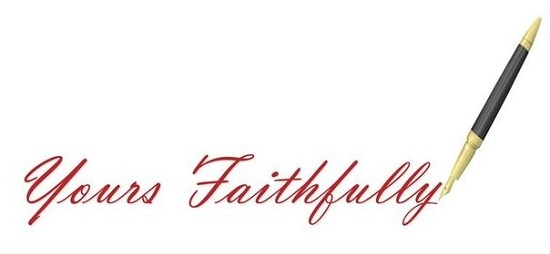 Yours faithfully